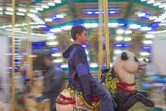 Carousel Freeze Motion (aaronrhawkins) Tags: carousel ride blurry clear lights panda animals focus provobeachresort provo utah cold winder indoors play joshua aaronhawkins pan panned child children boy