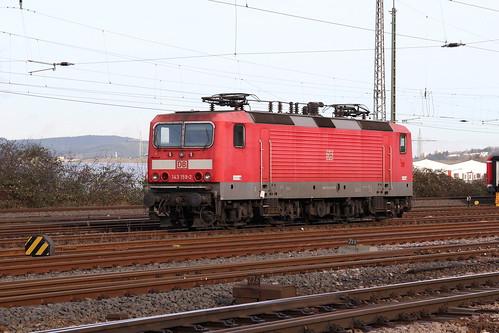 DB Regio 143 159-2 abgestellt Trier-Nord