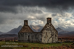 Moine Ruin (Shuggie!!) Tags: clouds hdr highlands hills houses landscape moorland mountains ruins scotland skyscape storm sutherland zenfolio karl williams karlwilliams
