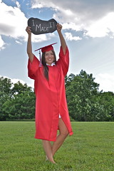 Awesomeness! (AngelBeil) Tags: red sabrina student graduation randomness announcement cap graduate gown chalkboard awesomeness classof2014