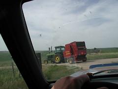 Wait for me! (twm1340) Tags: county tractor nebraska petersburg ne round boone johndeere baler 688 newholland