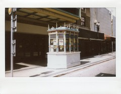 Ticket Booth Former Olympia Theater Downtown Miami (Phillip Pessar) Tags: movie theatre theater cinema miami florida roadside architecture analog instant fuji instax 210 camera wide film ticket booth former olympia downtown building