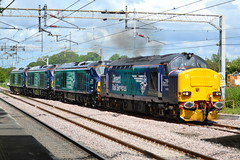 Direct Rail Services Class 37/4 37423 Spirit of the Lakes Class 68s 68008 Avenger, 68007 Valiant & 68006 Daring - Acton Bridge (dwb transport photos) Tags: tractor diesel railway valiant locomotive daring avenger drs 37423 actonbridge vossloh directrailservices 68006 68007 68008 spiritofthelakes