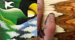 las ciudades nos (des)visten (Felipe Smides) Tags: agua mural fuego aire pintura tierra muralismo smides felipesmides