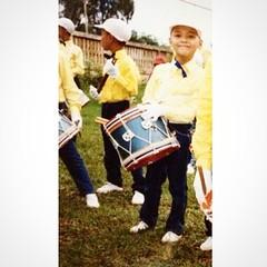 ภาพตอน ป.5 เพิ่งได้มาจากเพื่อนตอนสมัยประถม ดีใจมากมีรูปตอนอยู่วงดุริยางค์ หามานานมาก #child #drum #band #orchestra #happy #suratthani #thailand
