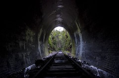 The Light at the End of the Tunnel (CassyIrene) Tags: abandoned train australia tunnel historic haunted nsw newsouthwales illawarra helensburghtunnel cawleystunnel