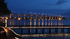 Pre-Dawn Roosevelt View (tclaud2002) Tags: night view florida cloudy stuart boardwalk predawn rooseveltbridge