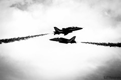 Close Red Arrows (G.J.T Photography) Tags: show uk red summer portrait sky blackandwhite man cars chicken clouds lens beard wings nikon zoom britain smoke great airshow planes arrows mustang bnw pilot stunts d3100 wingwalkchop