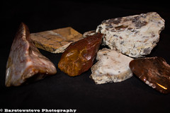 A Bit of My Rock Collection 203/365 (Barstow Steve) Tags: wood project rocks jasper 365 petrified