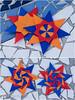 Corona Stars (Maria Sinayskaya) Tags: square origami folded 10010 modularorigami origamistar mariasinayskaya мариясинайская kamipaperduocolorcolor 15cmdoublesided daiyoshiko