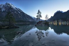 Faster Love (Volker Birke) Tags: sunset mountain lake alps reflection nature night landscape berchtesgaden solitude shot alpen spiegelung visualpoetry birke volker hintersee ramsau wasserspiegelung hochkalter reiteralpe volkerbirke