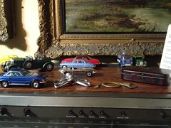 In the man cave (raleighnut) Tags: rose vintage toys corgi tudor hardy diecast wingnuts gripfast whizzwheels