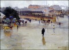 Art Gallery of NSW, Sydney - Arthur Streeton 'The Railway Station' 1893 (Markus Lske) Tags: new art wales gallery arte artgallery kunst south sydney australia newsouthwales australien lueske lske