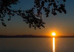 Post summer solstice (LEXPIX_) Tags: sunset summer lake framed adirondacks panasonic solstice champlain adk fz200