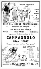 Campagnolo Gran Sport Advert. (Paris-Roubaix) Tags: road sport hall championship time albert royal best souvenir advert council gran british trials programme bbar campagnolo rttc allrounder holdsworthy