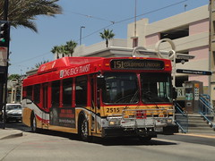 Long Beach Transit (theTransitjournal) Tags: new bus beach flyer long transit hybrid ge40lf