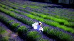 FRANCE - Provence, Abtei de Sénanque, Girl , effecte , traumhaft , 12008/3645 (roba66) Tags: france texture frankreich lavender lila provence blau lavendel effectetextur