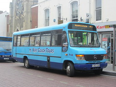 Kent Coach Tours Mercedes Vario Y353CKR Ashford 09/07/14 (David_92) Tags: street kent coach bank beaver mercedesbenz tours ashford vario ckr plaxton y353 o814 y353ckr
