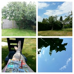 saturday in the garden (noisy__nisroc) Tags: collage clouds garden mobil