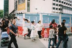Corporation Street Corner (Bikeygeek2010) Tags: street film alex 35mm lens cherry photography birmingham kodak mason union olympus corporation 400 xa portra zuiko