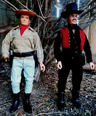 Outlaws (atjoe1972) Tags: gabriel vintage toys actionfigure tv cowboy retro western 1970s custom seventies outlaw loneranger oldwest sixshooter butchcavendish atjoe1972