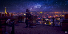 Parisian Walkways (Yannick Cordemy) Tags: light sunset sky paris tower night star tour slow eiffel bynight tamron toit nikond600