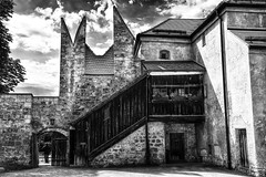catching a view of beyond (paddy_bb) Tags: travel shadow bw cloud castle germany deutschland bavaria ruin burghausen 2014 nikond5300 paddybb
