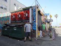 Shane, Kathy and Lee (ashabot) Tags: california city people streetart graffiti losangeles cities streetscenes