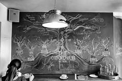 Mind Map in Turl Street Kitchen (Time to try) Tags: blackandwhite monotone oxford mindmap tsk turlstreetkitchen fujixe1