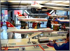 Flugzeugmodelle - Airplane model (Werner_Schmutz) Tags: schweiz switzerland suisse suiza luzern suia svizzera lucerne swissair airplanemodel verkehrshaus modellflugzeug museumoftransport balair globeair