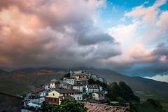 Castelluccio at sunset (luigig75) Tags: sunset italy clouds canon italia tramonto nuvole di monte marche umbria 1022 norcia castelluccio vettore 70d efs1022mmf3545usm castellucciodinorcia