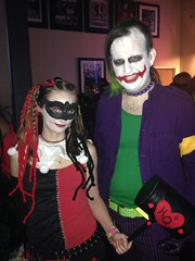 Harley and Joker at Club Cosplay (V Threepio) Tags: costume cosplay nightclub harleyquinn thejoker coronaca clubcosplay alternativejoker