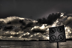 You can't (EXPLORE) (Andrea_Federici) Tags: sea sky italy clouds canon italia nuvole mare explore cielo hdr fano eos50d andreafederici