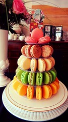Macaron Tower (KiwiCharlotte) Tags: paris tower french strawberry chocolate mint caramel flavors passionfruit salted macaron charlottenz kiwicharlotte