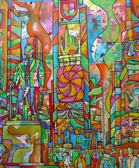 Christian Montone 2014 Times Square North NYC (Detail 2) (Christian Montone) Tags: nyc newyorkcity art ink watercolor painting artwork drawing manhattan mixedmedia broadway statues urbanart midtown popart timessquare billboards montone theaterdistrict theatredistrict christianmontone