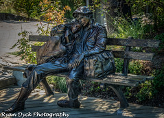 Vancouver - VanDusen Botanical Gardens Aug 3 2014 RDP (17 of 18).jpg (Ryan Dyck) Tags: wood longexposure flowers blue red sky orange brown white black flower art tourism water fountain beautiful yellow gardens vancouver photoshop wow bench spectacular photography amazing nikon perfect couple artist britishcolumbia bees creative statues sphere waterfalls features greeen hdr lightroom 2014 softwater vandusenbotanicalgarden georgous photomatix nikon800 ryandyckphotography