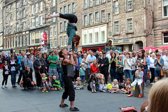 Edinburgh festival. (boneytongue) Tags: show musician music festival costume flyer edinburgh comedy play stage traditional performance royal fringe tragedy sing actress posters acrobatics singers actor drama act mile canvasser