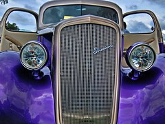 Come for a Ride (Michel Lalonde 353) Tags: auto blue canada art cars car quebec autoshow artsy chrome québec gatineau aylmer