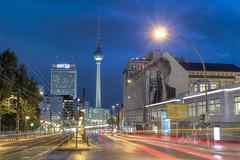 Berlin Nights (lippediak) Tags: longexposure berlin night canon lights nightshot alexanderplatz fernsehturm langzeitbelichtung prenzlauerallee canoneos550d