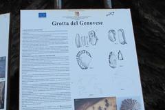 Sign explaining the Grotto de Genovese (Florence3) Tags: sicily egadiislands levanza grottodegenovese