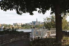 one day, baby, we'll be old (dorthrithil) Tags: park sea tree beautiful canon landscape eos view sweden stockholm peaceful capitol ef djurgården 24105 twooldladies 6ed