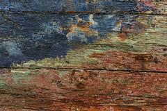 Hull exposed (paul indigo) Tags: wood abstract texture stain paint ship colours timber grain hull trawler paulindigo
