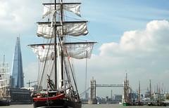 Jantje (6) @ River Thames 09-09-14 (AJBC_1) Tags: riverthames london tallship sailingship sailroyalgreenwich2014 paradeofsail jantje dlrblog ©ajc ship boat vessel england unitedkingdom uk ©ajc ajbc1