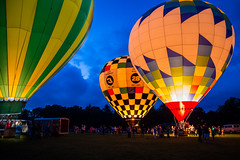 Balloon Night Glow (2) (jeff_a_goldberg) Tags: illinois unitedstates balloon hotairballoon grayslake annualcoloraloftballoonfestival