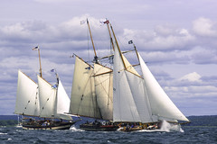 Storming Ahead (joegeraci364) Tags: ocean new wood sea england cloud seascape heritage nature water beauty weather race landscape outdoors boat marine ship action yacht outdoor antique connecticut craft vessel atlantic maritime boating sail mast nautical brilliant amistad heritagefestival mysticwhaler
