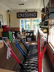 'Not Really Cressing' (EZTD) Tags: england foto photos railway steam photographs photograph fotos oldskool signalbox levers 2014 fotograaf cressing colnevalleyrailway heritagerail eztd eztdphotography sonydslra500 signallingsystem photograaf eztdphotos eztdgroup oldbrsign