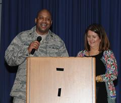 192nd Fighter Wing honors Wingman Day (Virginia Air National Guard Public Affairs) Tags: usa virginia hampton hamptonva langleyairforcebase virginiaairnationalguard 192ndfighterwing wingmanday jointbaselangleyeustis colrobertjgrey