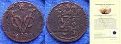 Netherlands East Indies 1 duit 1745 Holland (Numismatic Coins & History) Tags: holland coin asia copper coa cobre moneda mnze voc certificateofauthenticity duit netherlandseastindies certificadodeautenticidad