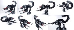 The Scorpions' Sting (all views) (END films) Tags: fiction brick animal robot cool lego mechanical films awesome tail contest battle science suit scorpion claw rawr end laser combat claws mecha mech exo piloted