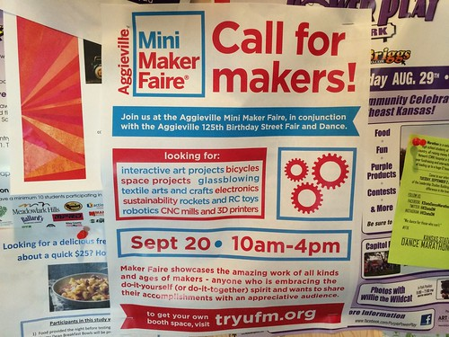 Aggieville Mini Maker Faire: Call for Ma by Wesley Fryer, on Flickr
